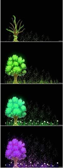 视频素材 动态视频素材 动态|特效|背景视频素材 > 大树成长许愿守望
