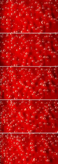 超清水泡红色背景视频素材