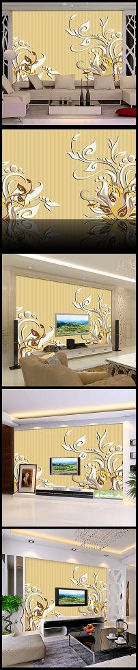 欧式罗马门风景电视背景墙壁纸壁画