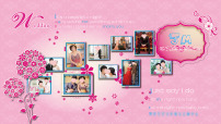 婚礼喷绘照片背景墙图片