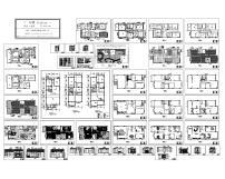 简欧式家装 cad图纸设计下载