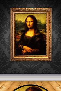 蒙娜丽莎的微笑油画装饰画