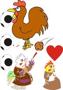 卡通 卡通图片 素材 大公鸡/矢量图线描稿大公鸡卡通...
