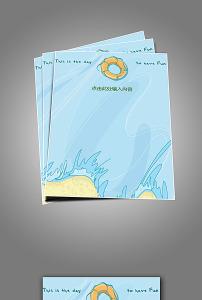 海洋卡通信纸模板图片