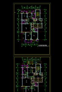 经典高层办公楼建筑cad设计图