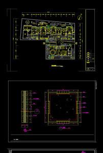 中式茶楼cad设计装修图模板下载(图片编号:12256547)
