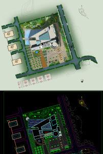 某三层幼儿园建筑设计方案图cad图纸模板下载(图片:)