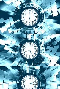 标题:高清钟表转动时间流逝背景视频