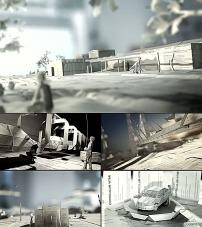 背景 创意 视频素材/创意报纸影视动画背景视频素材