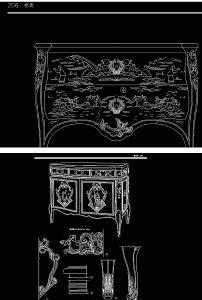 欧式家具(cad图纸)