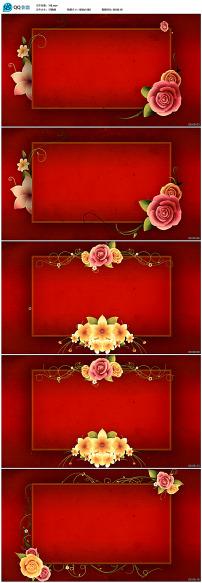 动态花纹边框视频