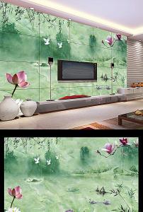背景墙 电视/绿色大理石中式电视背景墙设计 已下载0 次