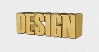 3d立体字设计design图片