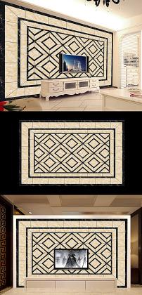 欧式拼花格子方块大理石瓷砖客厅电