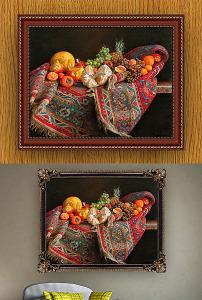 高清手绘欧式古典写实宫廷风格花卉油画