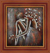 欧式现代西方少女人体艺术油画装饰画