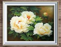 风格 牡丹花/白色的牡丹花写实风格油画 已下载2 次