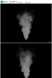 浓烟烟雾喷发带透明通道前景视频图片