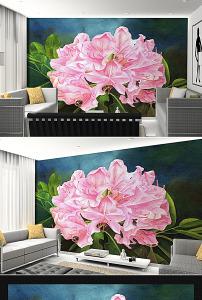 背景墙 设计 红色/红色盛开牡丹花油画花卉背景墙设计已下载0 次