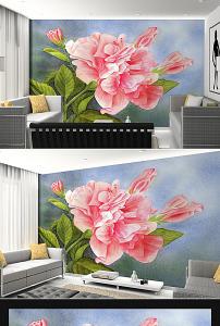 唯美 盛开/唯美盛开牡丹花油画背景墙设计已下载0 次