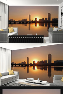 背景墙 设计/现代城市建筑摄影背景墙设计已下载0 次