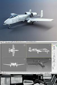 喷气式飞机3d模型