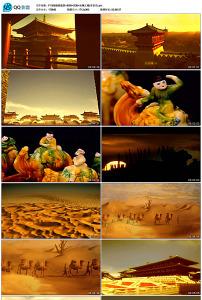 盛唐建筑唐朝宫殿丝绸之路高清视频图片