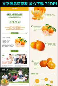淘宝宝贝详情页模板-柑橘 图片图片素材 柑橘 图片图片素材免费下载