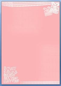 粉色礼盒可爱信纸背景word模板图片