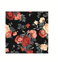 图案 花卉/手绘复古花卉叶子印花图案已下载0 次