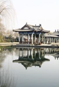 中式传统建筑亭台楼阁风景画图片