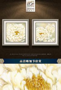 清新/唯美梦幻清新盛开白色牡丹花卉油画... 已下载0 次
