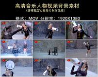 性感美女唱歌背景视频素材
