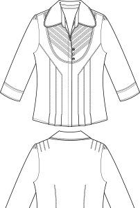 衬衣衬衫中年女装中袖衬衫衬衣款式图图片