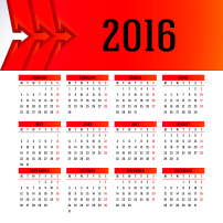 2016年猴年日历挂历几何日历台历模板下载图片