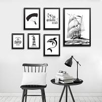 > 北欧抽象画黑白画创意画矢量图片