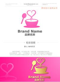 标志/爱心咖啡屋奶茶店甜点LOGO标志 已下载0 次