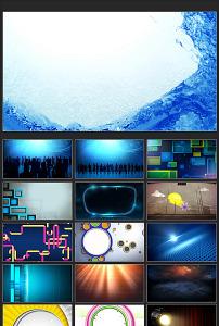 动态 运动/广告常用运动中的蓝色水流动动态背... 已下载0 次