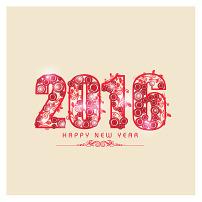 2017折叠环保创意新年数字图片