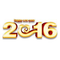 2016新年创意数字图片