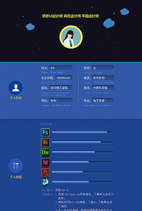 网页设计师简历ui设计师简历图片
