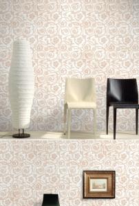 现代简笔画约唯美花纹客厅卧室壁纸墙纸