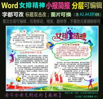 word体育小报里约奥运会中国女排精神2图片