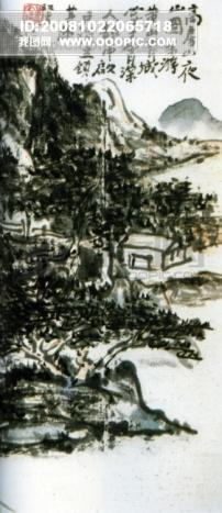 山水画 临摹 作品 水墨 背景 -虹模板下载 18959