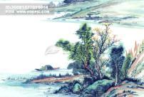 可爱 花猫/山峰山峦峰回路转山沟 山脉 山顶中华艺术绘画