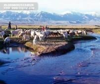 风景/风景山川 山脉 风情风光特色旅游甘肃城市广告素材大辞典