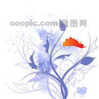简单边角花纹素材_