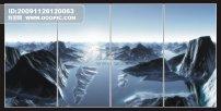 玻璃/玻璃移门(河流山脉)