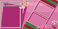 女孩 草莓/公主裙/草莓女孩儿童模板_影楼魔法书DVD47